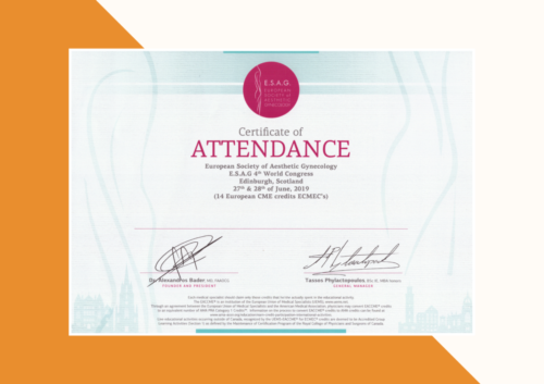 European Society of Aesthetic Gynecology 4th World Congress 2019